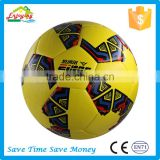 high level various size color custom made scuff-resistant conventional 3.5mm PVC leather football soccer ball