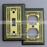 Mission Period Brass on Oil Rubbed Bronze Switch Plate Covers