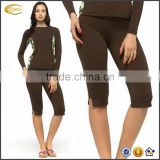 Ecoach Hawaii Surfing/board/Shopping/Golfing/Running/Yoga high strech Women Rash Guard Short Pants