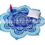 Beach Throw Blanket Yoga Mat Towel Bohemian Round Tapestry Shawl Travel Rug