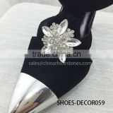 Hot sales Silver Decorative shoes Clips On Rhinestones Metal Shoe clips for Wedding Shoe Accessories
