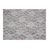 Fashion White Brushed Lace Fabric with Flower Shape , 135cm Width CY-LQ0042