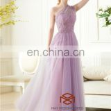 Real Photo Selena Gomez One Shoulder Chic Beaded Ruffles Red Carpet Dress Lilac Celebrity Dress Prom Free Prom Dresses HMY-D213