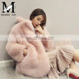 2017 Latest New Design High Quality Full Pelt Real Fox Fur Fashion Women Coat