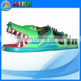 crocodile inflatable obstacle course/kids obstacle course/gator inflatable obstacle tunnel