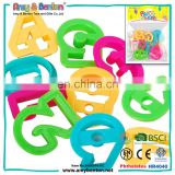 Hot sale beach sand mini molds kids toys of English letters