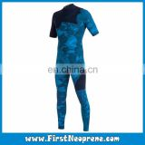 Custom Fit 2/3MM Neoprene CR Yamamoto Rubber Short Sleeve Freediving Full Wetsuit For Men