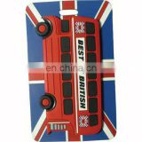 Beautiful PVC soft baggage tag with a red car