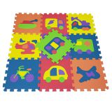 QT MAT Non-toxic Odorless 12in x 12in 10pcs/set Vehicles EVA Floor Mat Puzzle Tile