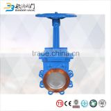 chemical industry high quality manual operated wafer lug pn16 cast iron knife gate valve