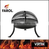 Outdoor cast iron wood fire pit bowl