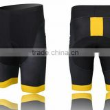 Ladies Black /Yellow Design quick try Cycling Shorts