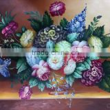 High Quality Assured painted pictures of flowers stretched canvases Oil Painting on Canvas for Home Hotel Decoration