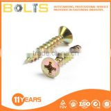 Flat countersunk head chipboard screw