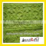 green bottom embroidered organza fabric