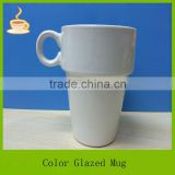 11oz eco ware white porcelain coffee white mug cup with ring ceramic water mug