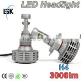 Newest G6 led headlight fanless all in one car led headlight h4 motorcycle led headlight