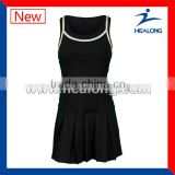 sublimation comfortable black tennis dress