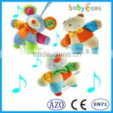 Babyfans Cute Mouse Soft Plush Stuffed Babies Toys High Quality Baby Musica Hanging Toys For Baby Stroller