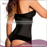2015 Black Leather Sexy Lingerie Waist Trainer Corset Leather Women XXL Butt Lifter Waist Training Belt