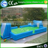 Cheap inflatable soap football field for outdoor game