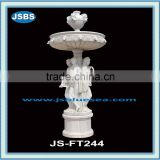 outdoor large garden stone nude lady water fountains