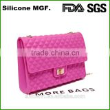 China wholesale market supplier shopping handbag silicone shoulder bag
