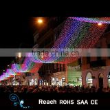 New design rainbow waterproof led light decoration outdoor led street decoration arch motif light in holiday lighting christmas