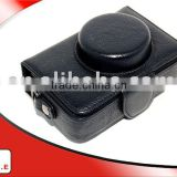 Black Shine skin PU leather Camera bag for PANASONIC DMC-LX3