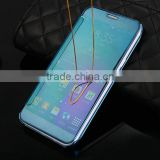 Transparent smart mirror phone case for samsung galaxy a8 flip cover case