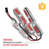 Rechargeable F8S40C Ni-MH SC 4000mAh 9.6V Wholesale Toy Helicopter Battery rc Toy Battery 9.6v