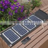 foldable solar battery charger solar power bank charger with USB charger for charging cellphone