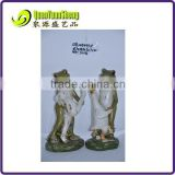 Resin dancing frog with rabbit duck statues for garden decoration