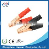 High current alligator clips for car battery charging