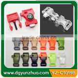 New design flint survival bracelet buckles with fire starter, fire starter buckles with compass