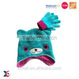Passed Sedex testing warm winter children hat with animal designs knit free animal hat knitting patterns