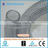 Flexible transparent pvc spiral steel wire reinforced hose                                                                         Quality Choice