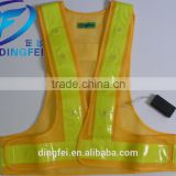 cheap Custom logo flashing led Reflective safety vest , reflective clothing , reflective vest