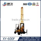 XY-600F 100m,250m,600m Ground Water Well Drilling Rigs and Portable Water Well Drilling Machine