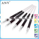ANY 5PCS Set 3D Nail Art Clay Design Brush High Quality Silicone Material Tip                                                                         Quality Choice