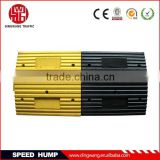 Yellow and Black Rubber Road Hump