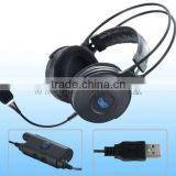 Multifuction gaming headset,usb headphone jack adapter,headset specially designed for pc
