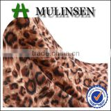 Shaoxing knitted dty both side brush poly spandex leopard print jersey fabric