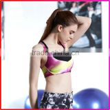 High impact breathable yoga paded bra for sport