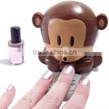new arrival Monkey monkey nail dryer/ Electric Wind Automatic Pressure Activates monkey nail dryer