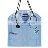 Special DR. uniform Shaped National Doctor's Day Promotional Stethoscope Lab Coat Tote Bag