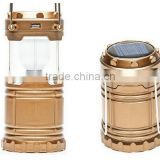 Hot sale Solar Camping Lantern Lamp/6 LED Solar Camping lamp Outdoor Lighting Folding Camp Tent Lamp /USB Rechargeable lantern                                                                         Quality Choice