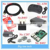 Media Center Starter Kit for Raspberry Pi 2 - Remote Wifi, cases, HDMI, power plug and I8 keyboard