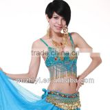 Belly Dance Bra Top with Diamonds and Beads in Dance Wear SZ008