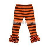 Boutique 95% Cotton Icing Pants Wide stripe Triple Ruffle Icing Leggings Girls Ruffle Pants